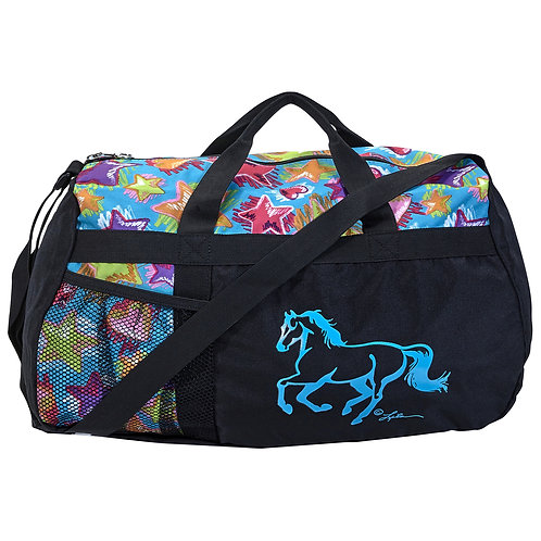 """GG662 Stars & Hearts Duffle with """"Lila"""" Horse"""