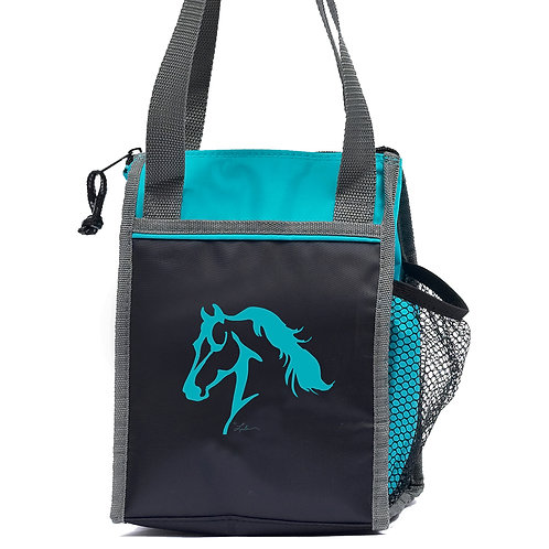 GG650 Teal Horse Head Lunch Sack