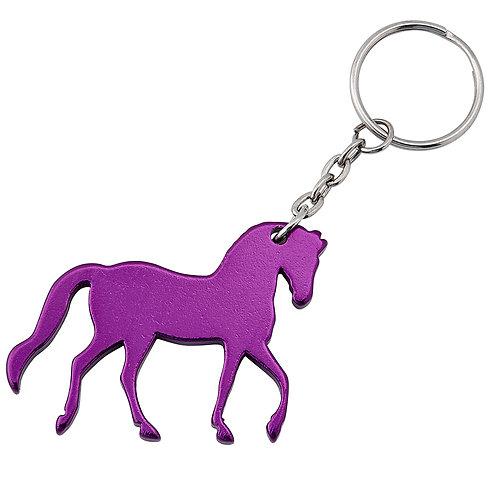 GG828PU Purple Prancing Horse Key Chain