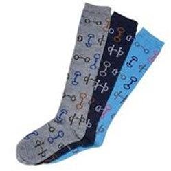 Snaffle Bits Socks-3 Pack