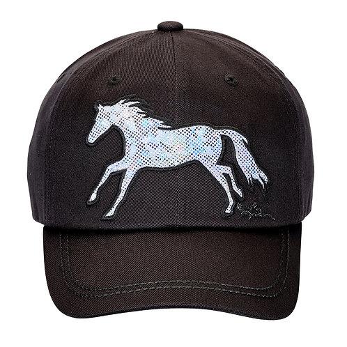 AC126BK Shiny Horse Cap