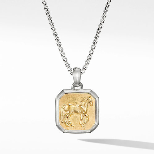 JN6700 Stainles Steel Horse Pendant Necklace