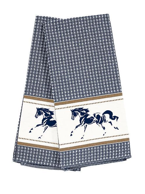 GG347BL Blue Running Horse Towel