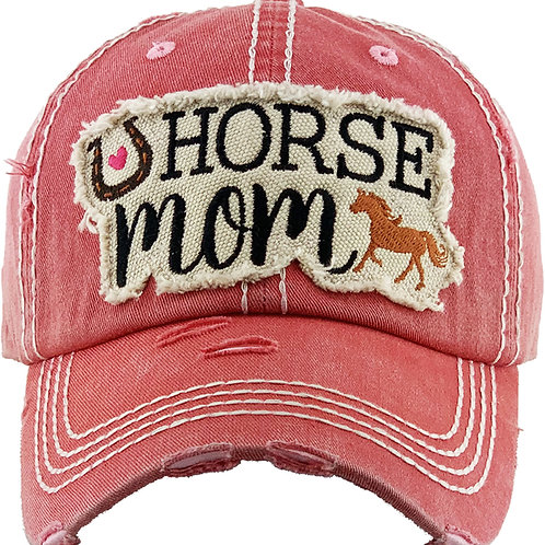 "AC263PK ""Horse Mom"" Cap, Pink"