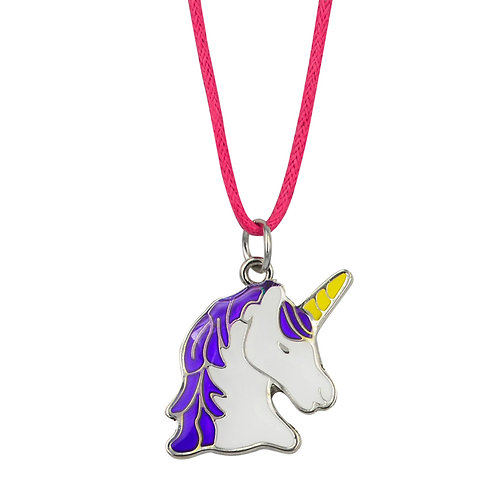 JN43 Unicorn Head Mood Necklace