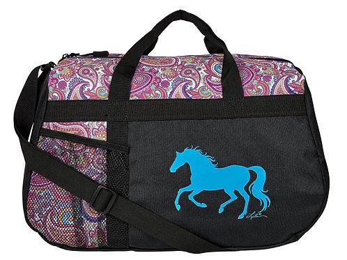 "GG823A Blue PaisleyDuffle with ""Lila"" Horse"