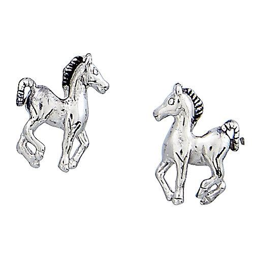 Prancing Pony Earrings in Horse Head Gift Box