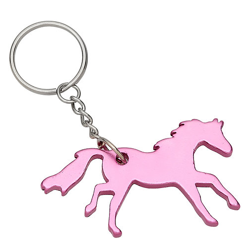 GG420PK Pink Galloping Horse Key Chain