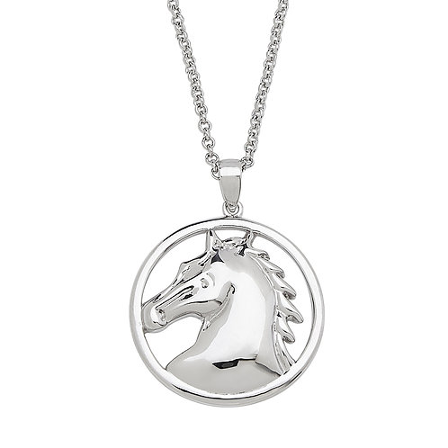 JN6822 Round Horse Head Necklace