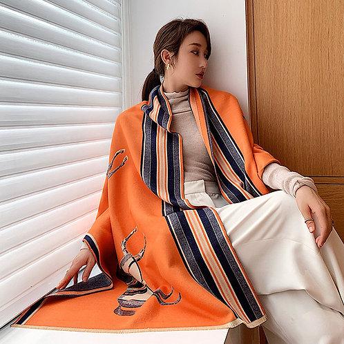 GG1640ROR Designer Style Scarf/Shawl, Orange
