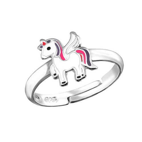 JR2750 Kid's Sterling Silver Unicorn Ring