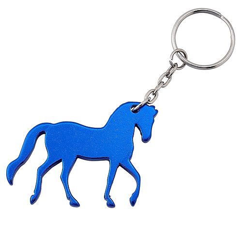 Blue Horse Key Chain