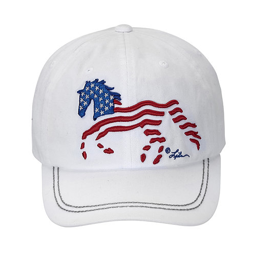 Lila©White USA Horse Cap