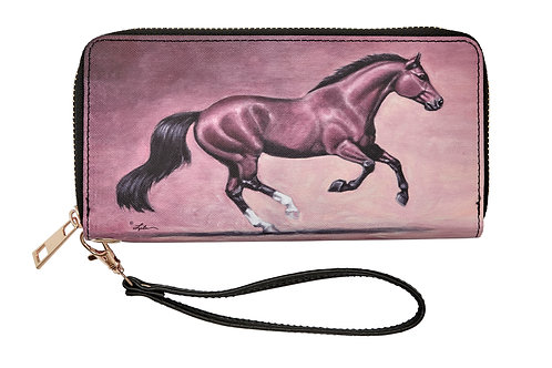 "LW445 ""Lila"" Galloping Bay Horse Wallet"