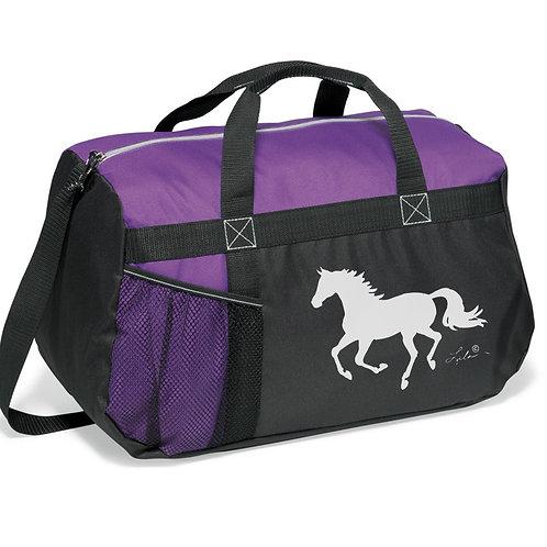 "GG819PU Purple & Black Duffle with ""Lila"" Horse"