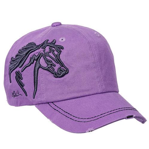 AC113LV Lavender 3-D Horse Head Cap