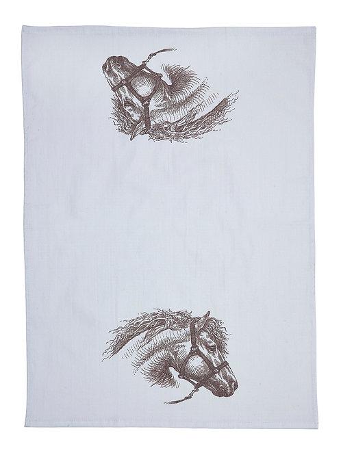 GG353 Vintage Horsehead Flour Sack Kitchen Towel