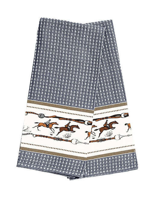 Waffle Weave Jumping Horses Kitchen Towels - Set of 2