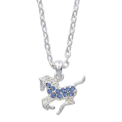 Blue Precious Pony Necklace