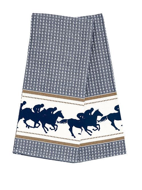 GG349BL Blue Race Horse Towel