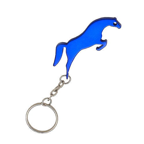 GG830BL Blue Jumper Horse Key Chain & Bottle Ope