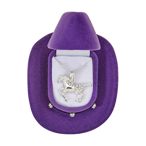 JN144 Galloping Horse Necklace