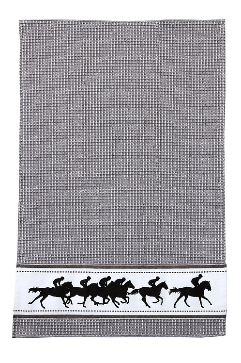 Grey Racing Horse Towel