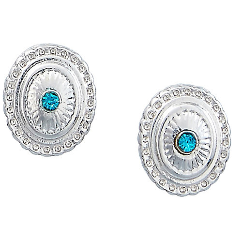 Concho Earrings in Cowboy Hat Gift Box