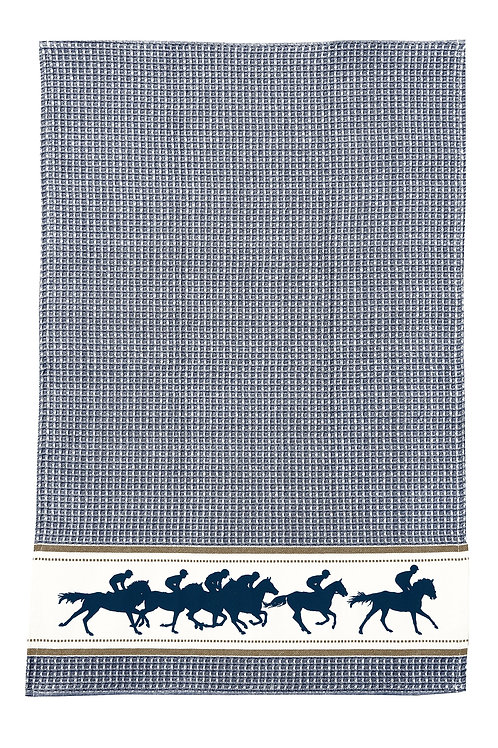 Blue Racing Horse Towel