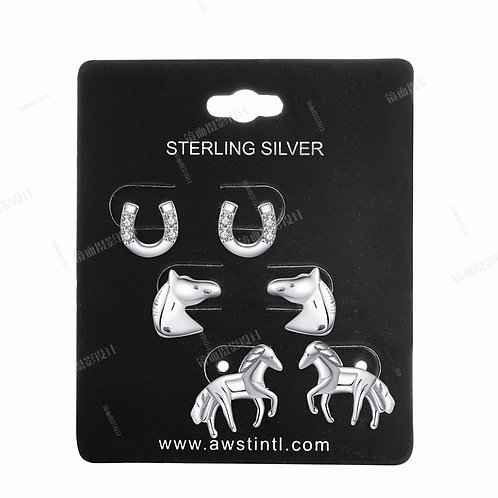 JE932 Assorted Sterling Silver Earrings