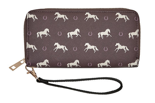 "LW446 ""Lila"" Horses & Horseshoes Wallet"