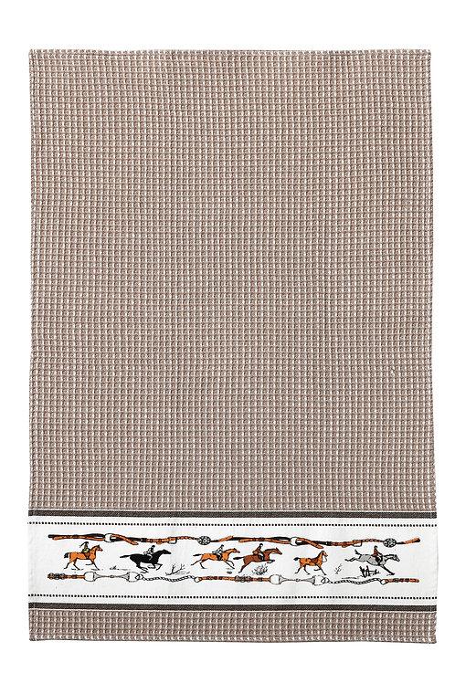 Beige Jumping Horse Towel