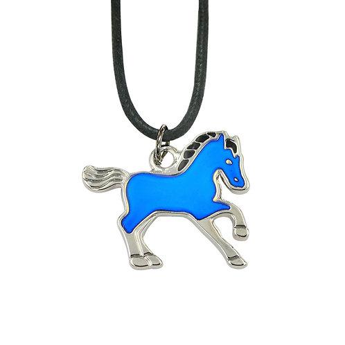 JN33 Trotting Horse Mood Necklace