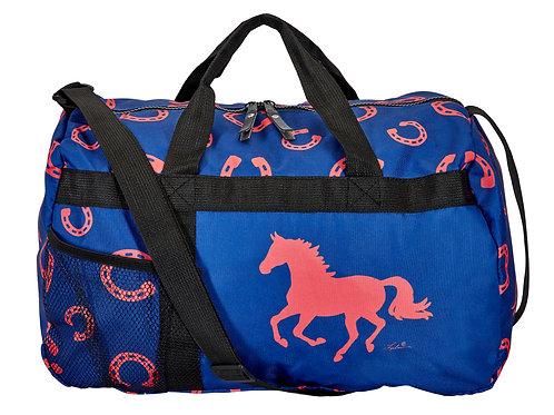 "GG633BL ""Lila"" Horseshoes Duffle Bag"