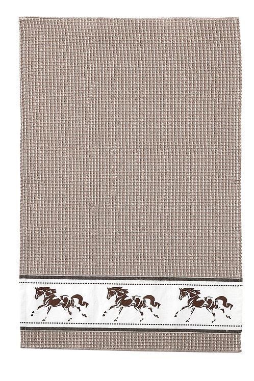 GG347BE Beige Running Horse Towel
