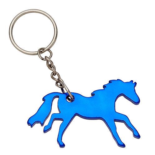 GG420BL Blue Galloping Horse Key Chain