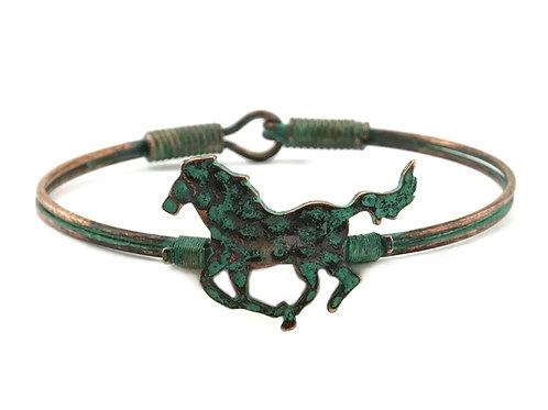 JB9204 Wire Bangle Horse Bracelet