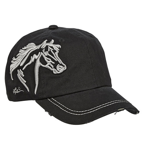 AC113BK Black 3-D Horse Head Cap