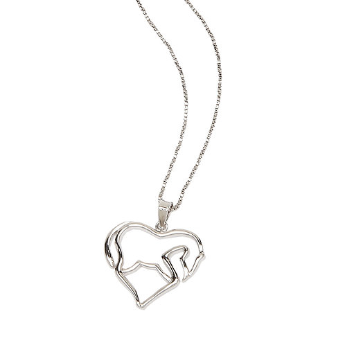 Stylized Horse Heart Necklace
