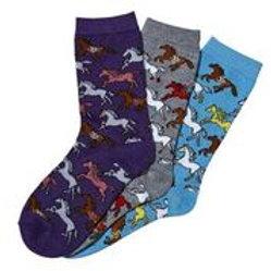 Southwest Ponies Crew Socks-3 Pack
