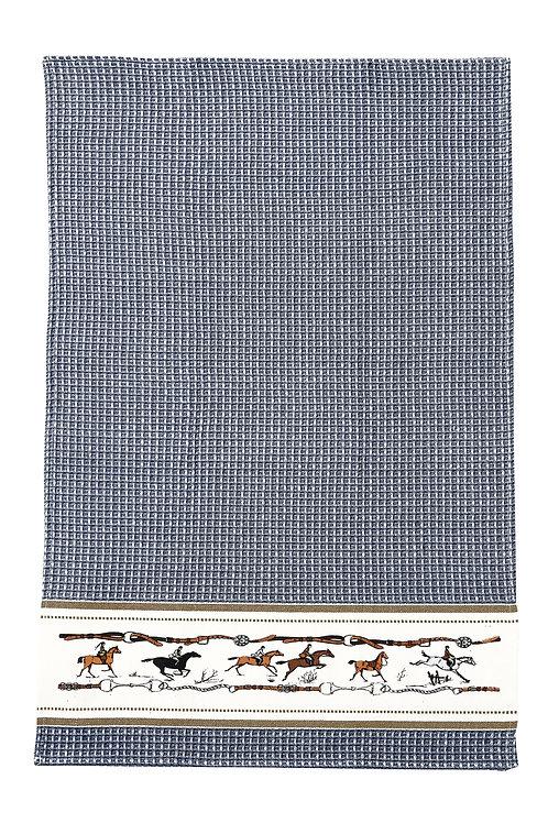 Blue Jumping Horse Towel