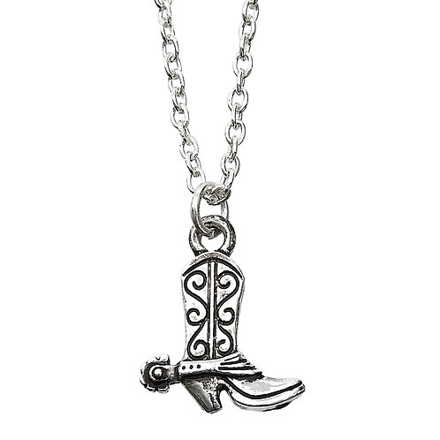 Cowboy Boot Necklace in Cowboy Hat Gift Box