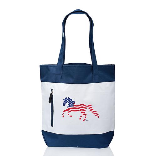GG640 USA Horse Tote Bag