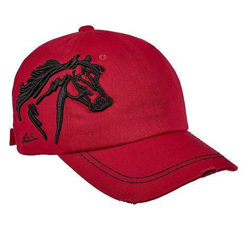 AC113RD Red 3-D Horse Head Cap