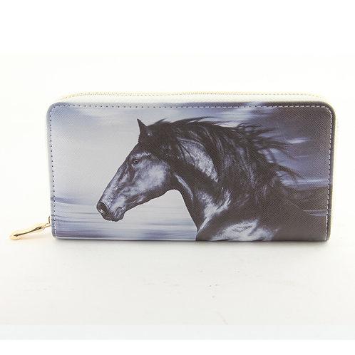 Wild Mustang Zip Wallet