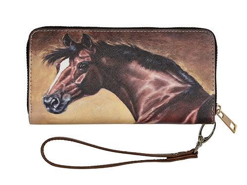 """LW450 """"Lila"""" Bay Horse Head Wallet"""