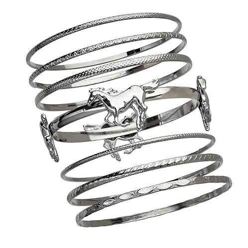 JB143S Set of Bangle Bracelets