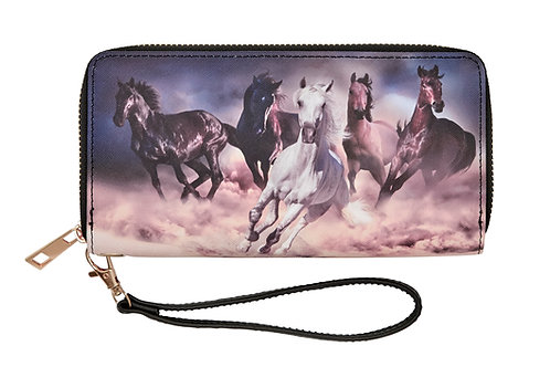LW198 Galloping Horses Wallet