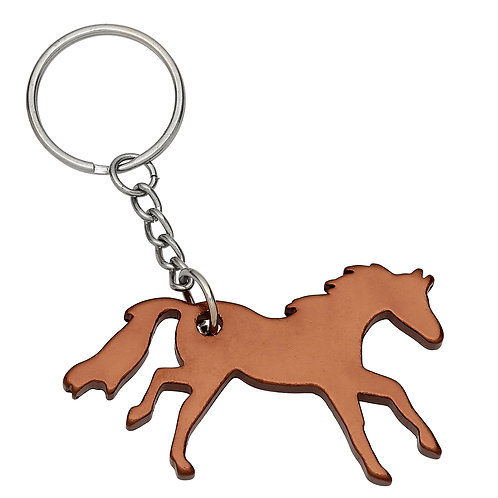 GG420CO Copper Galloping Horse Key Chain