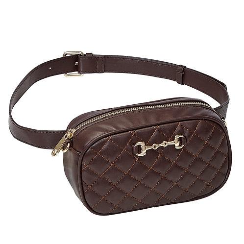 LP441BR Brown Snaffle Bit Waist/Crossbody Bag